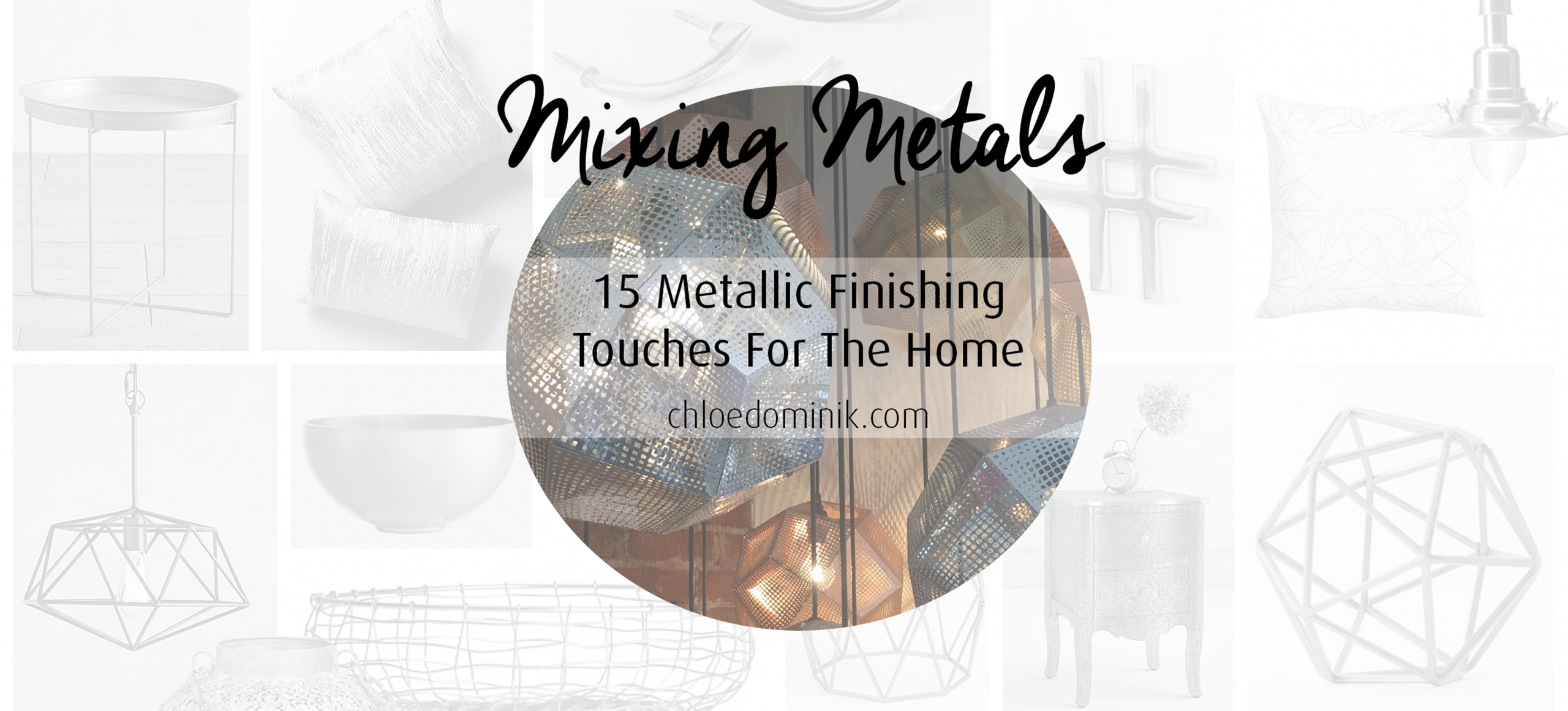 Mixing Metals: 15 Metallic Finishing Touches For The Home
