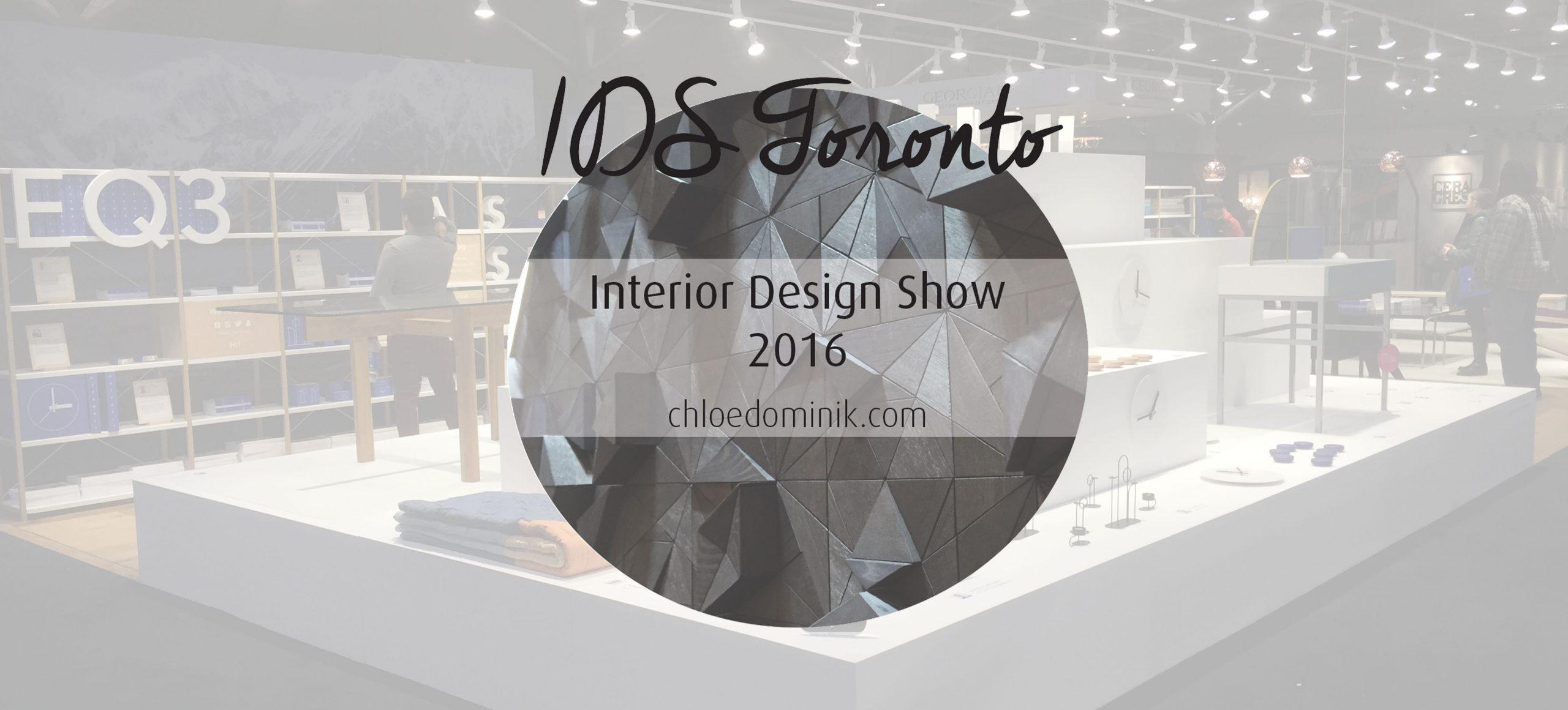IDS Toronto: Interior Design Show 2016