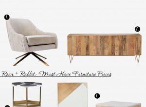 ROAR + RABBIT: 7 Must Have Furniture Pieces