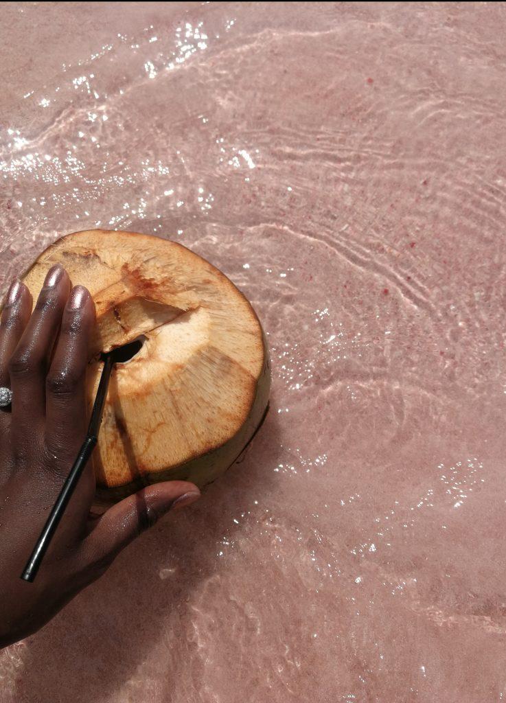 Coconut on Pink Beach Komodo Island