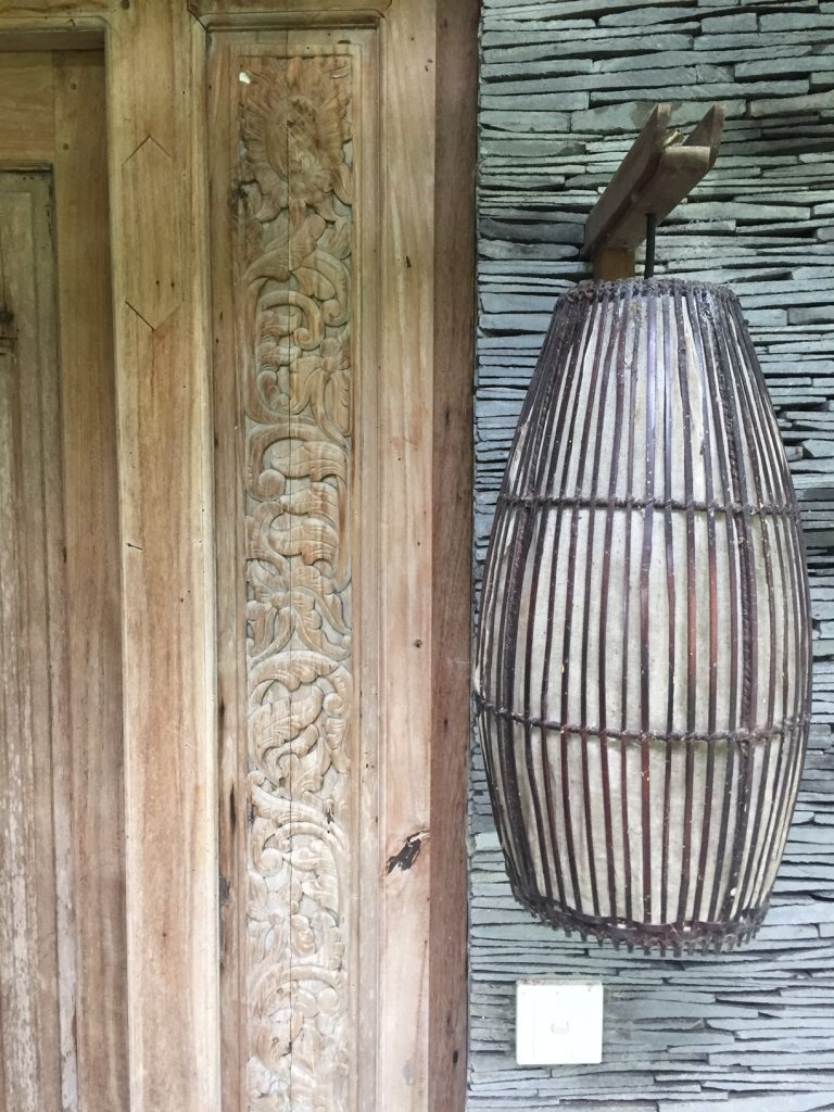 Indonesian Design Inspiration - Door carvings and lantern Villa Mary Canggu Bali