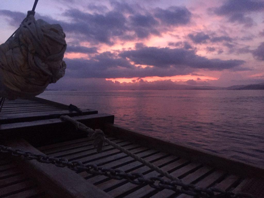 Sunset Sailing off Labuan Bajo Indonesia