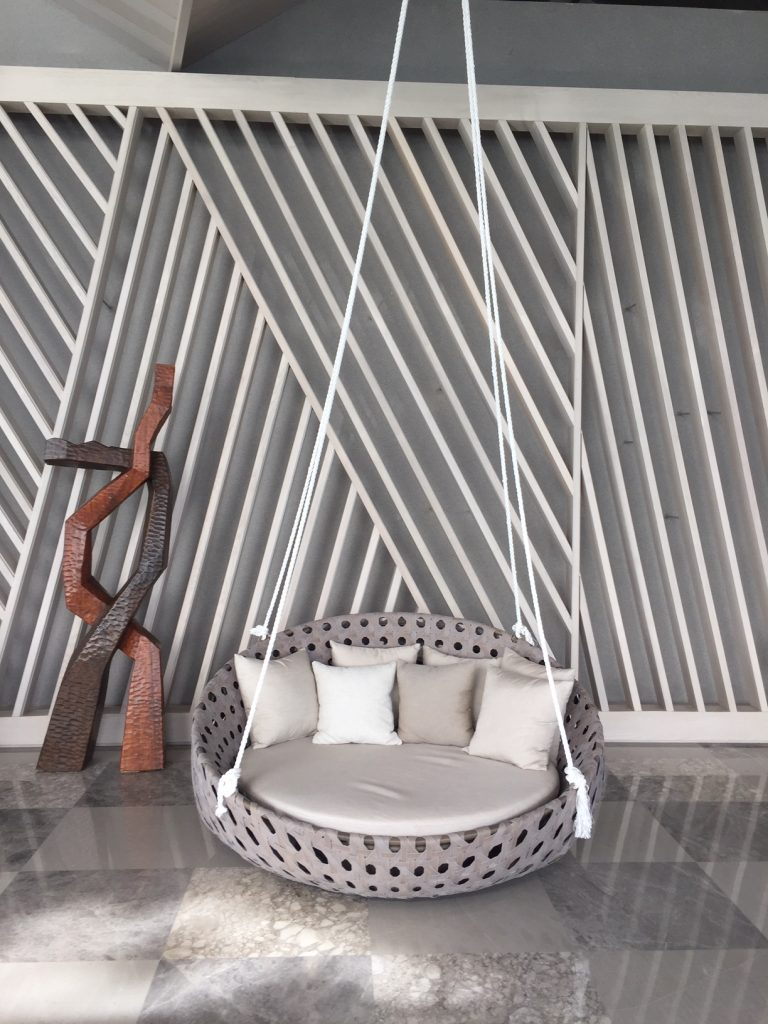 Indonesian Design Inspiration - Hotel Ayana lobby swinging chair