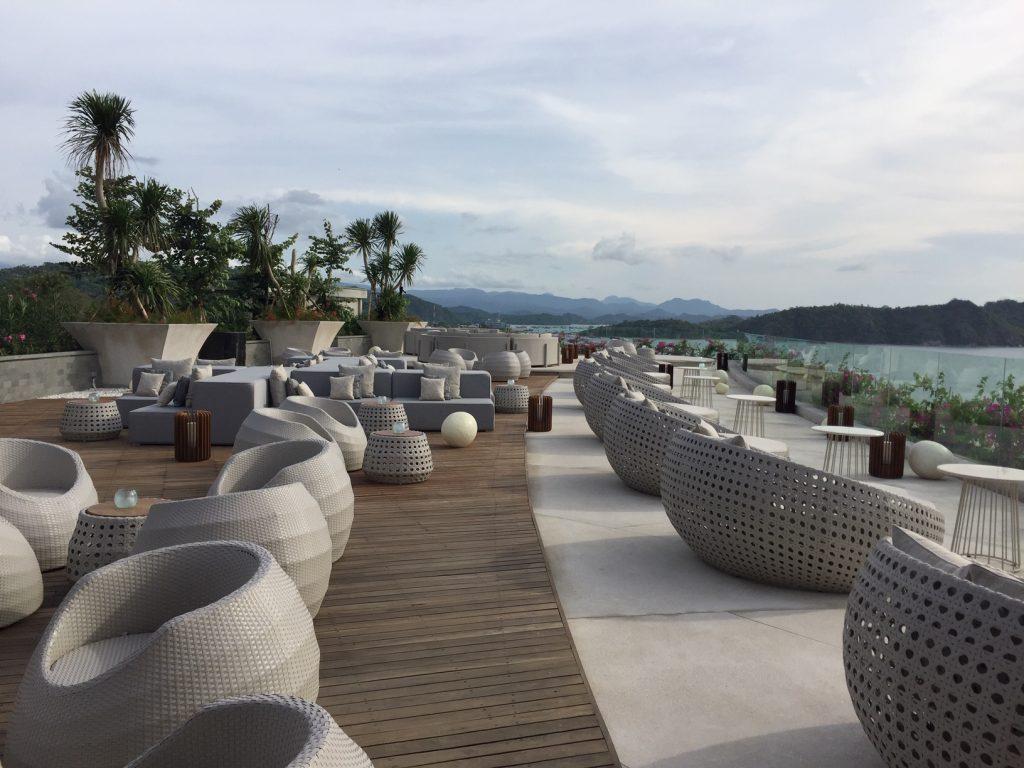 Roof top bar Hotel Ayana Komodo Resort Waecicu Beach