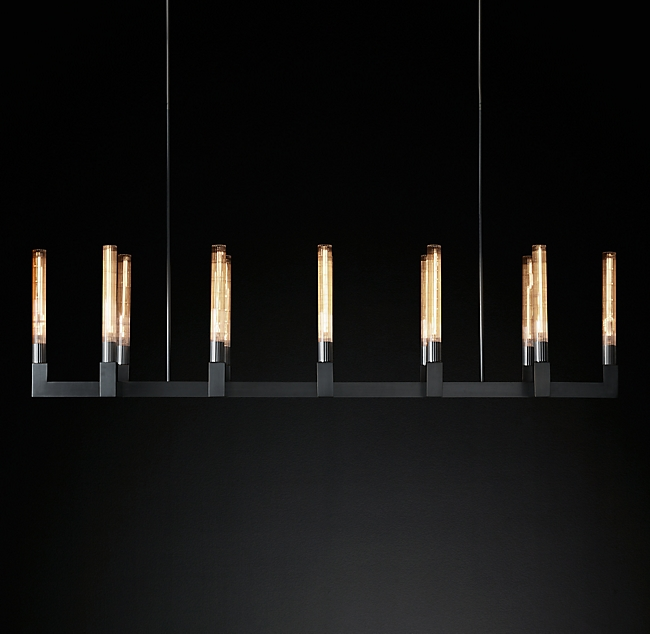 RH Cannele Linear Chandelier Bronze