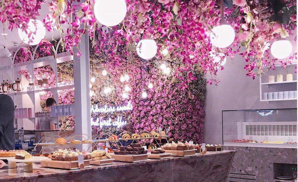 Flower Power at Elan Oxford Circus London - Cafe Interior