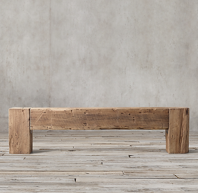 RH Reclaimed English Beam Console