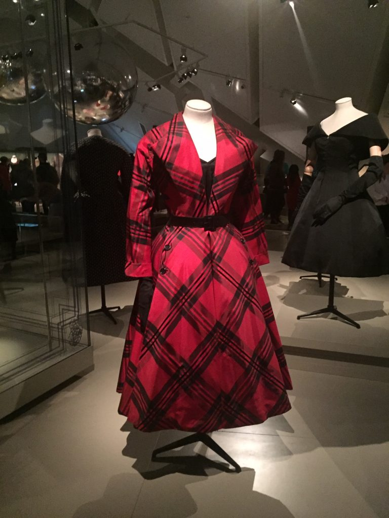 Red Checked Dress- Christian Dior From Toronto to London