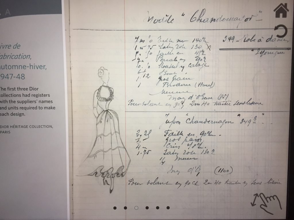 Sketches & Notes - Christian Dior From Toronto to London