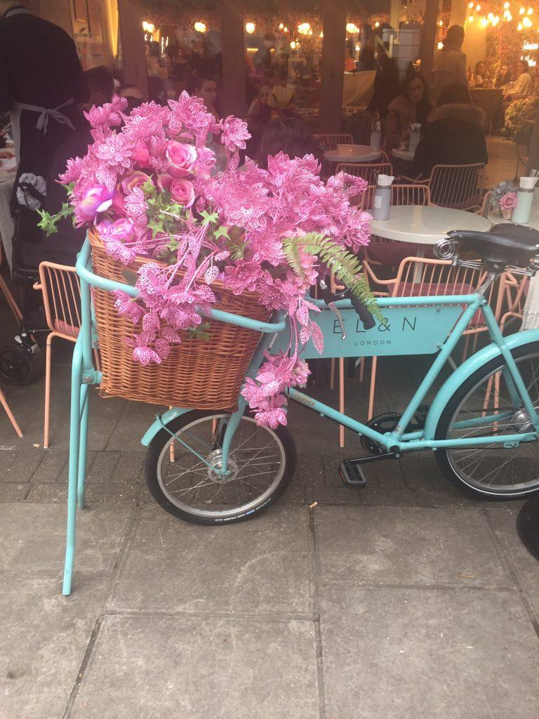 Flower Power at Elan Oxford Circus London - Elan Pastel Bicycle