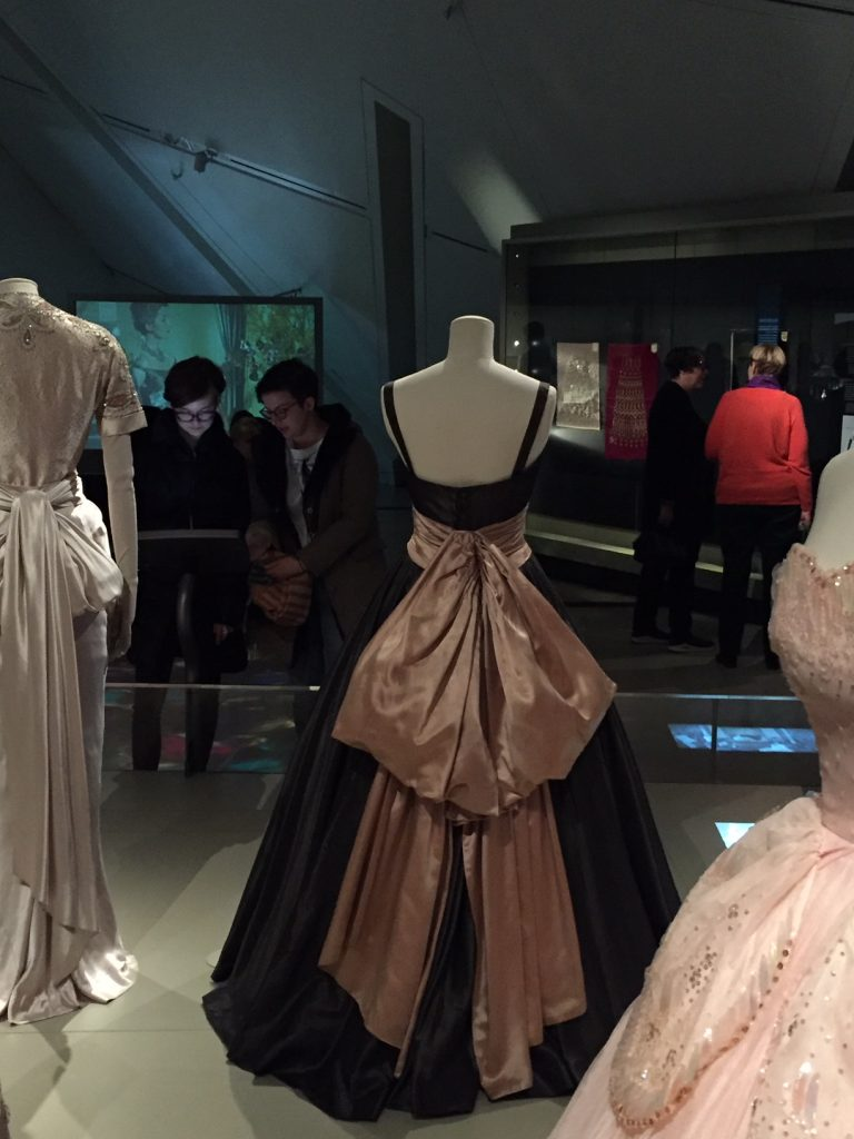 Back of Black Gown With Huge Satin Bow - Christian Dior From Toronto to London