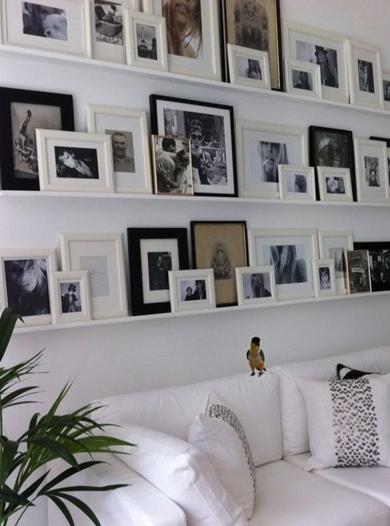 12 Ways To Display Your Gallery Wall - Layered Shelving