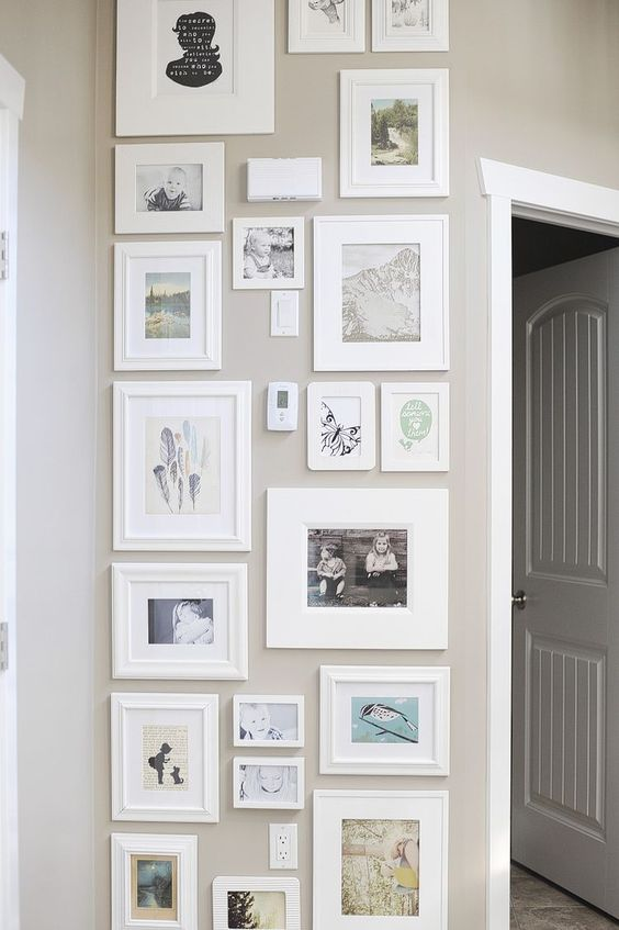 12 Ways To Display Your Gallery Wall - White Wash