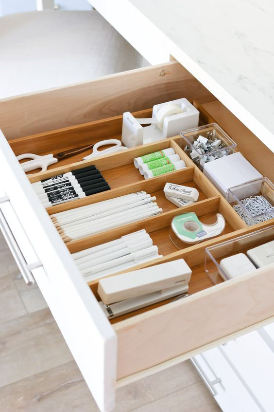 Making Spring Cleaning Look Good: Office Organisation - Drawer Dividers