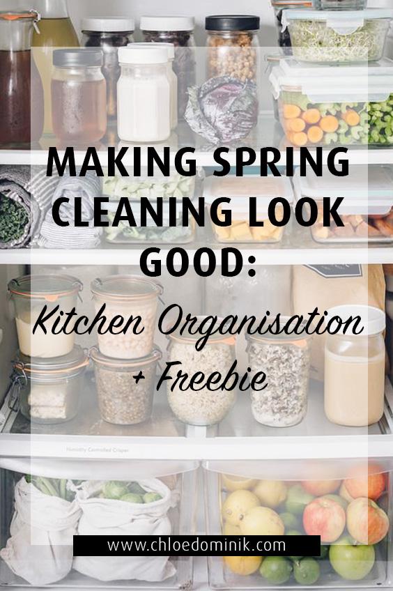 Kitchen Organisation + Freebie: Making Spring Cleaning Look Good
