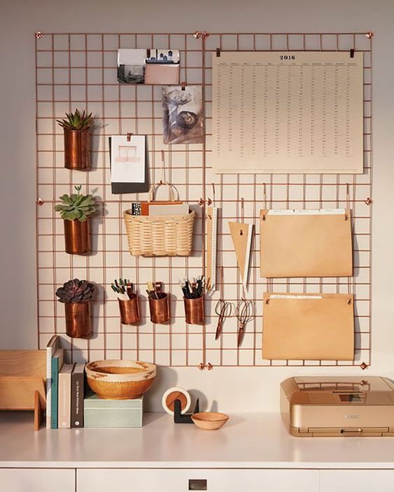 Making Spring Cleaning Look Good: Office Organisation - Wall Organisation