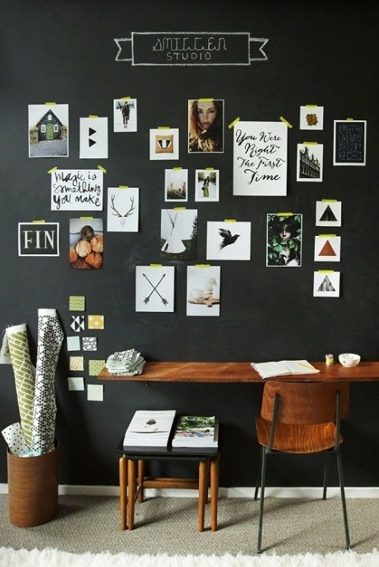 12 Ways To Display Your Gallery Wall - Chalk Wall