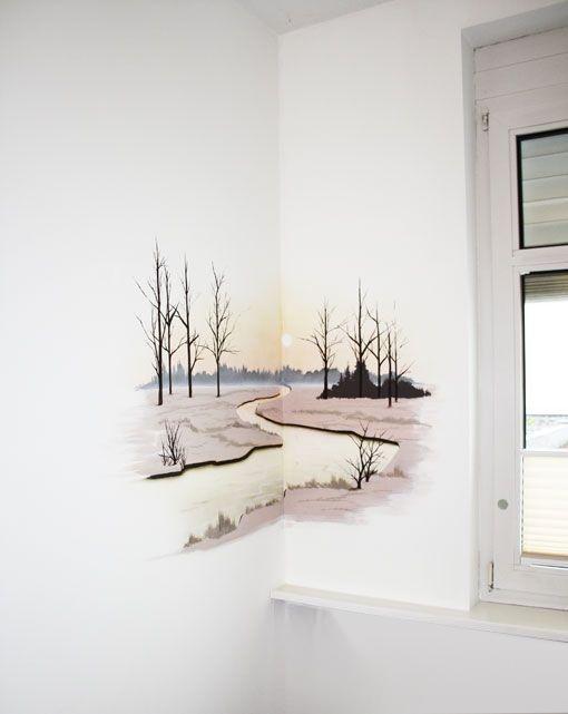 Corner Painted landscape art-mural