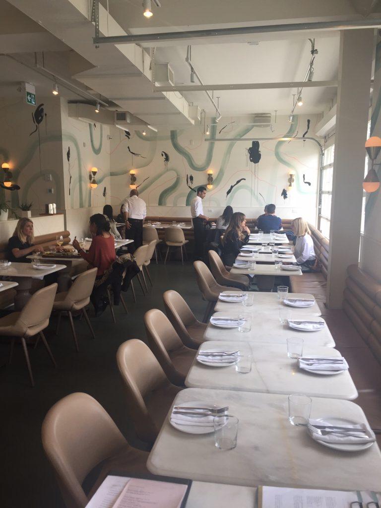 La Palma restaurant dining area Toronto