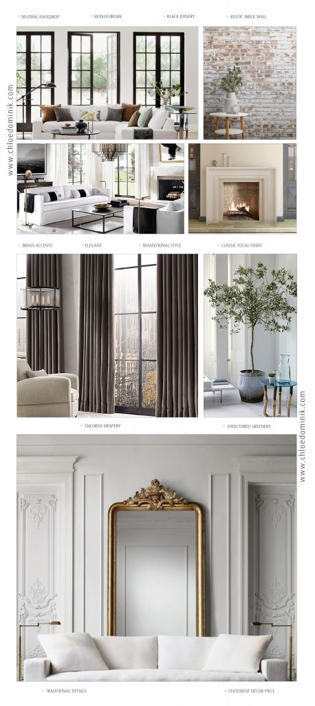 Parisian Style Interiors Collage Inspiration