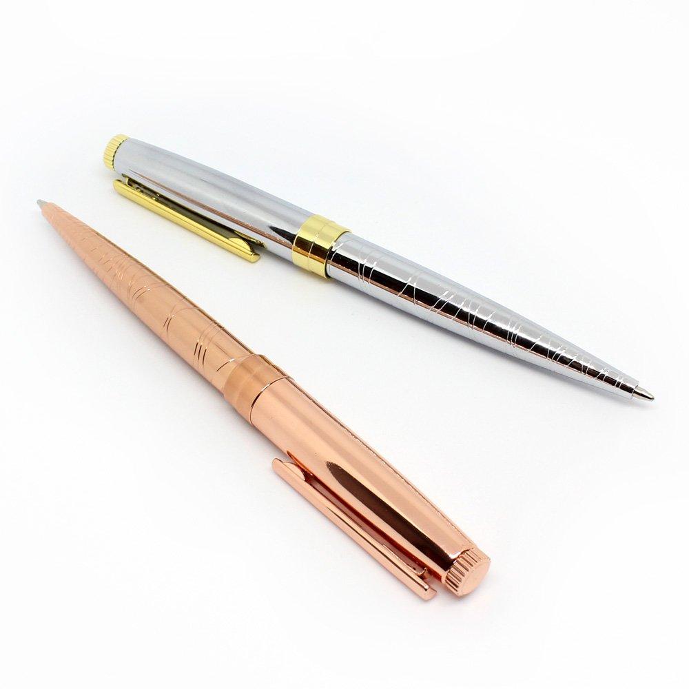 Set of 2 metallic pen gift set