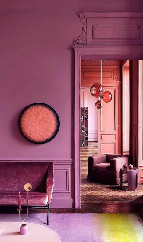 10 Rooms With Colour Done The Right Way! Bright Pink Classic Detailed Room