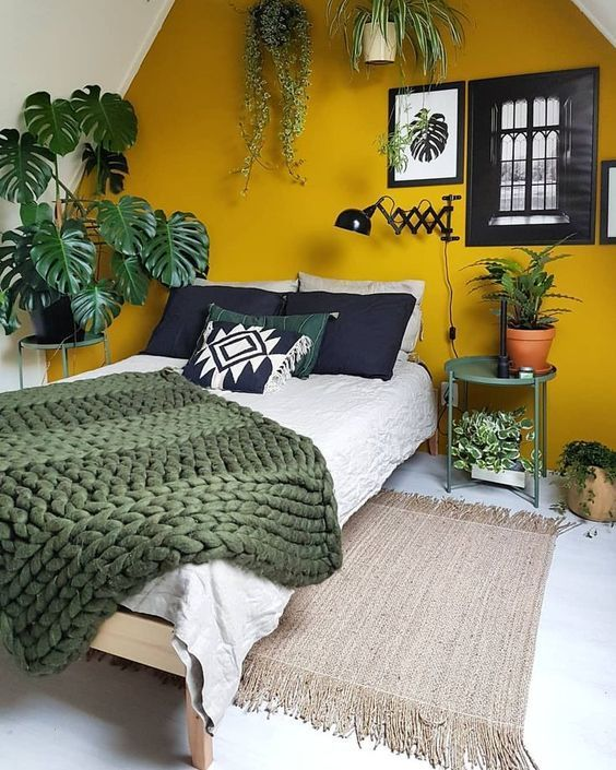 10 Rooms With Colour Done The Right Way! Mustard Yellow Backdrop Bedroom
