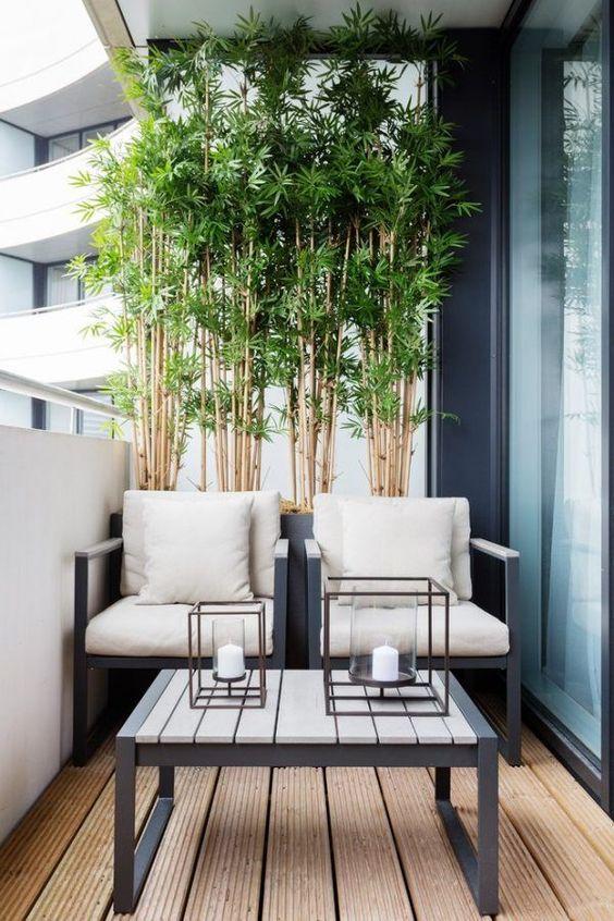 Outdoor Living Balcony Bamboo Screen