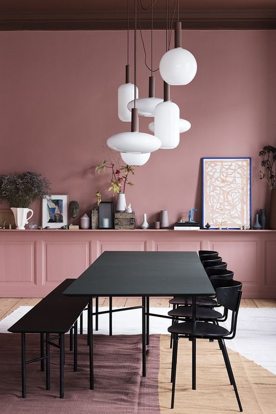 10 Rooms With Colour Done The Right Way! Pink-and-Plum-Ceiling-and-Walls-Room