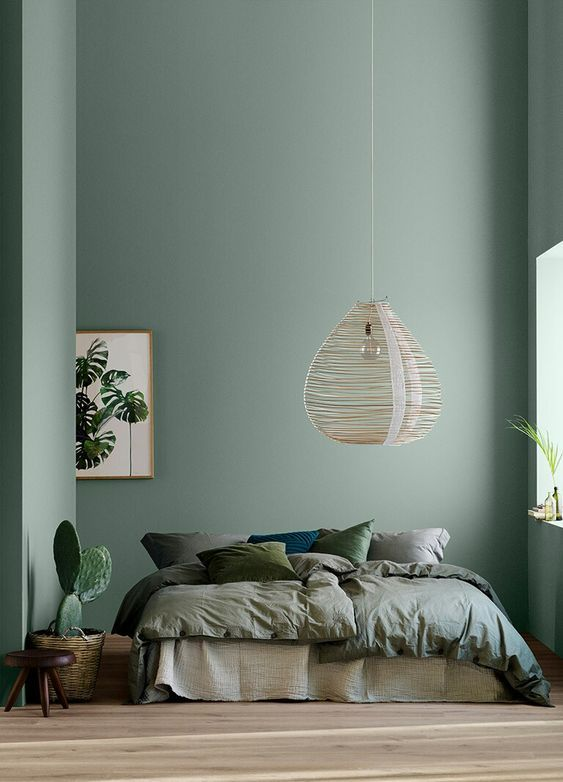 10 Rooms With Colour Done The Right Way! Calming-Sage-Bedroom