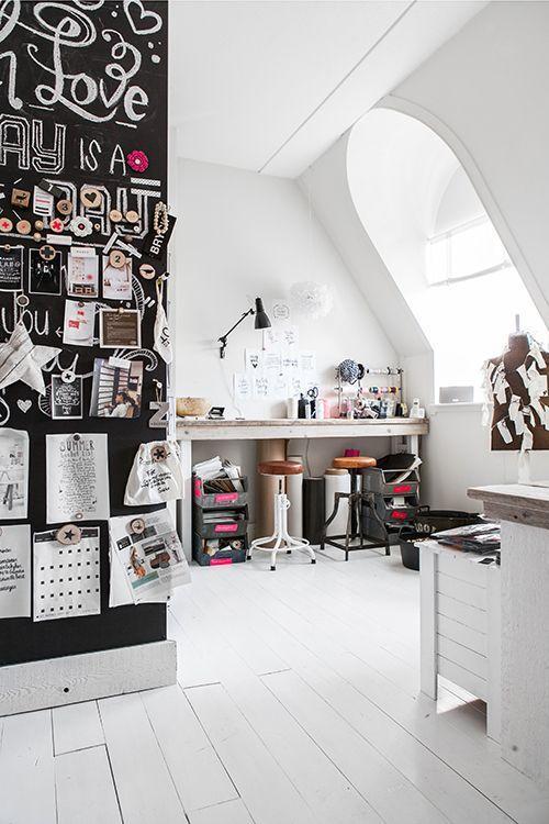 Fashion designers white home office