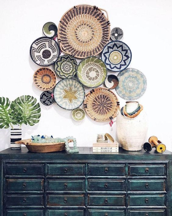Woven Basket Wall Decor Trend