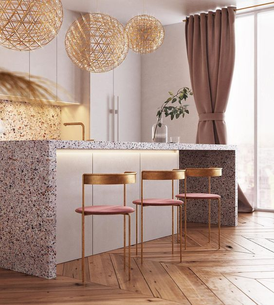 Elegant Dining and Kitchen Space by Yulia Cherviachenko