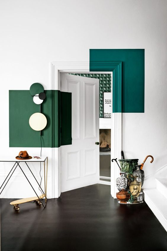 Colour Blocking For Your Interiors - Green Blocked Doorway