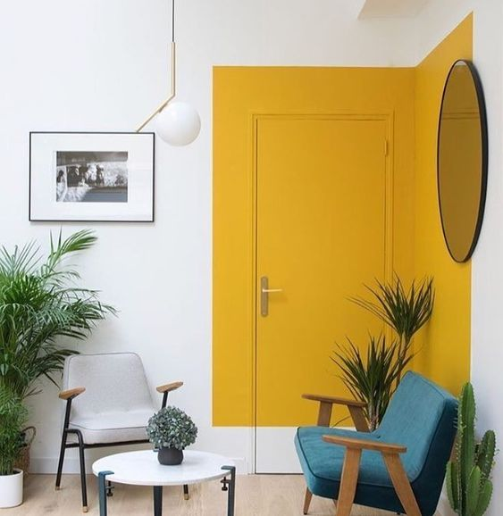 Colour Blocking For Your Interiors - Yellow Doorway