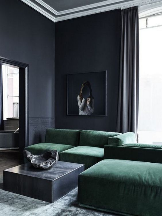 Moody Room Designs That You Will Love For The Winter Season - Modern Victorian Living Room