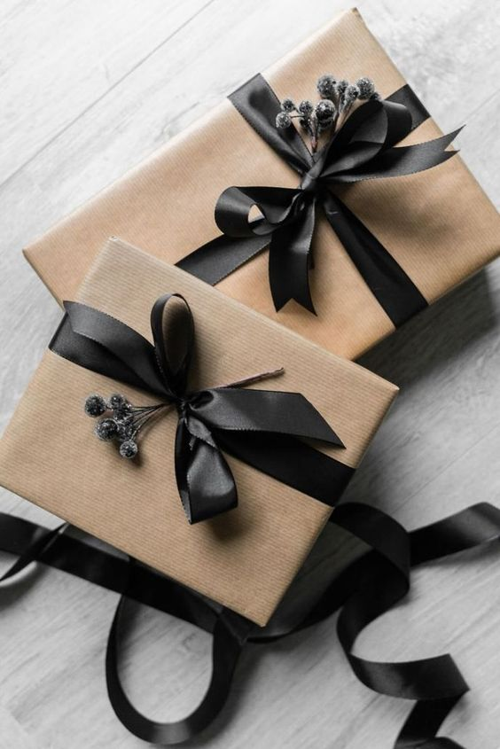 20 Creative Ways To Gift Wrap Your Presents This Christmas - Black Ribbon Parcel Presents