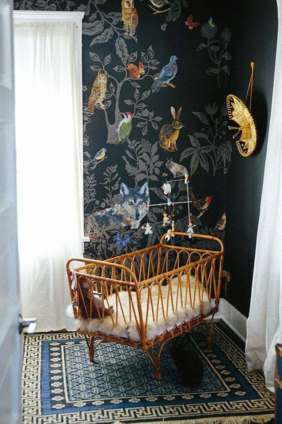 November Pinterest: Top 15 - Dark whimsical nursery corner