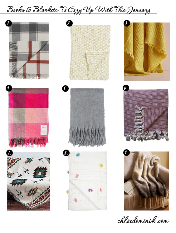 Books And Blankets To Cozy Up With This January - Blanket Throws