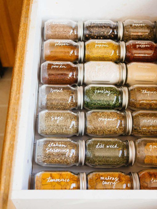January Pinterest: Top 15 For Ideas and Inspiration - Organised Spice Drawer