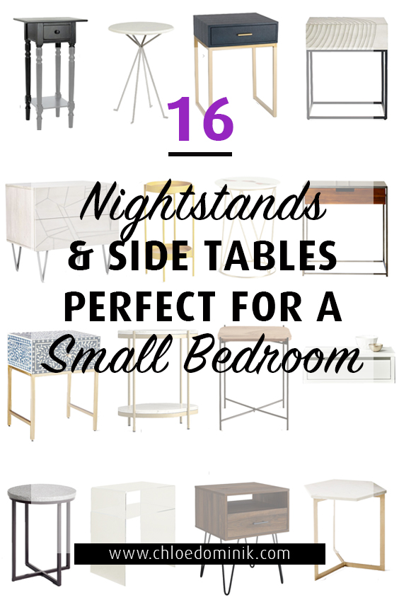16 Nightstands & Side Tables Perfect For Small Bedrooms