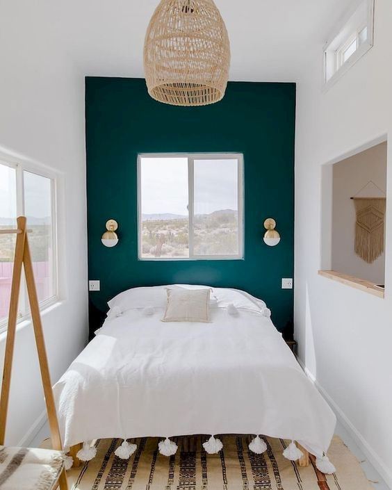9 Tricks To Make A Small Bedroom Look & Feel Larger - Contrasting Colour