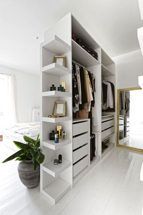 A wardrobe divider bedroom system